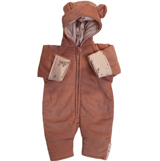 Teddy Suit en Coton Bio-Rose Blush