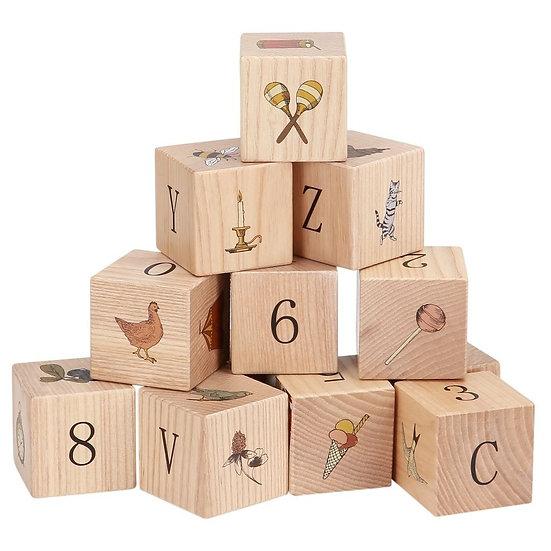 Jeu blocs en bois