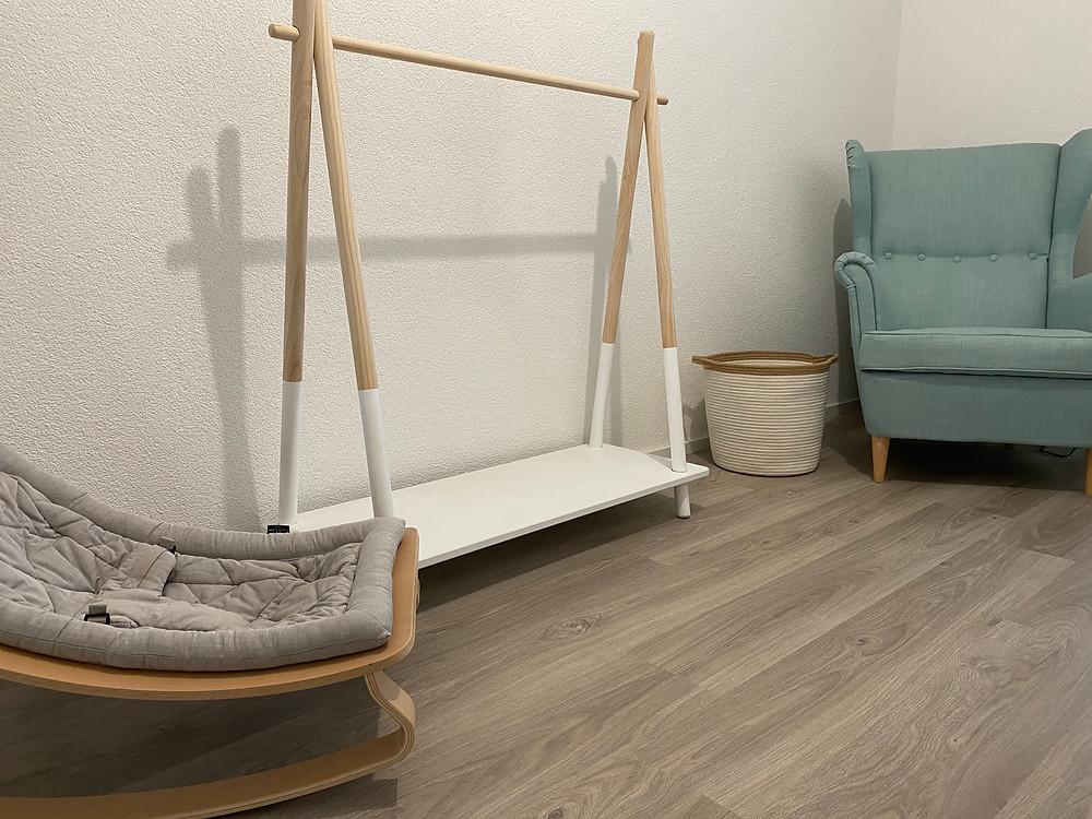 Chambre de bébé prête à reçevoir les box mensuelles d'Annette & Valentine