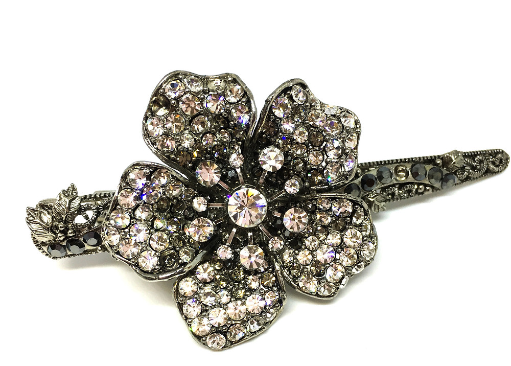 Art Deco Inspired Flower Hair Clip