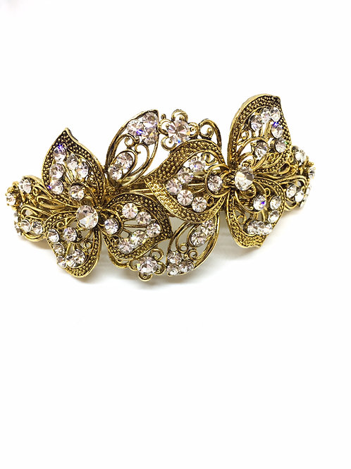 Sparkly Hair Barrette - Gold Tone