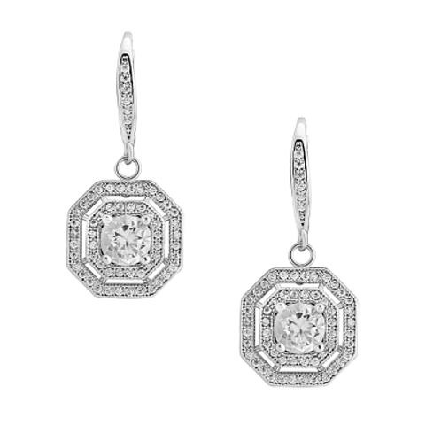 Swarovski and CZ Crystal Deco Earrings