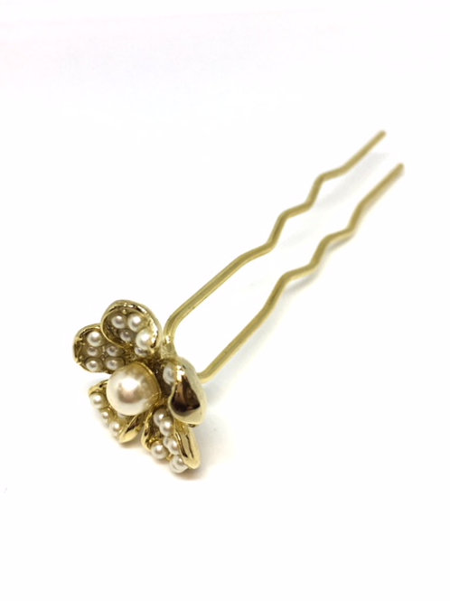 Flower Pearl Hair Pin