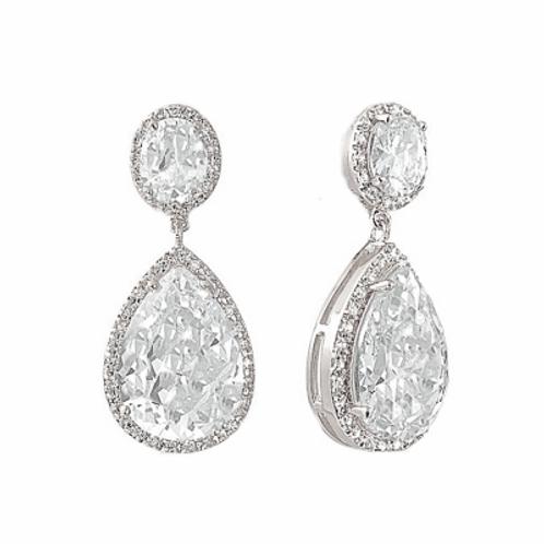 Sheer Elegance Earrings - Silver