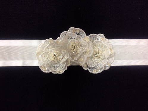 Flower Patch Satin Sash