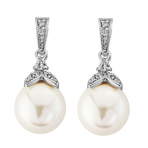 CZ Opulence Pearl Earrings