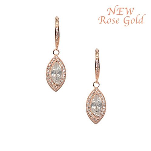 Dainty Earrings Rose Gold