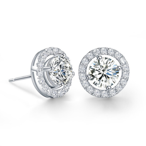 CZ Crystal Studs Earrings