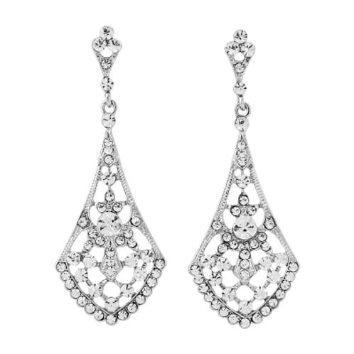 Crystal Clear Long Earrings