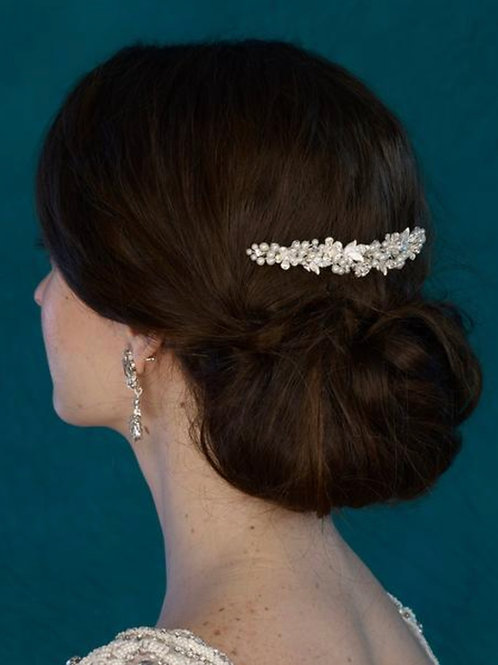 Silver Leaves/Pearls Hair Comb