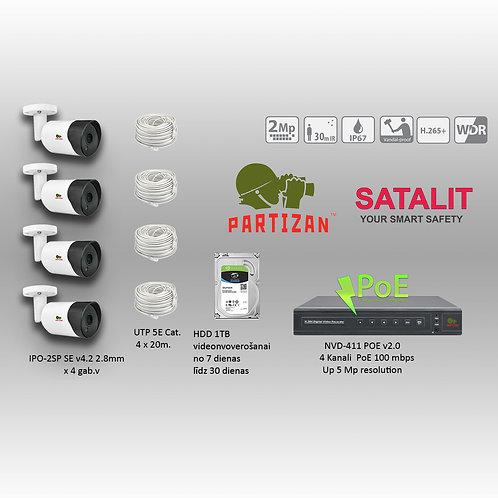 Комплект видеонаблюдения Partizan 2mpix 30m