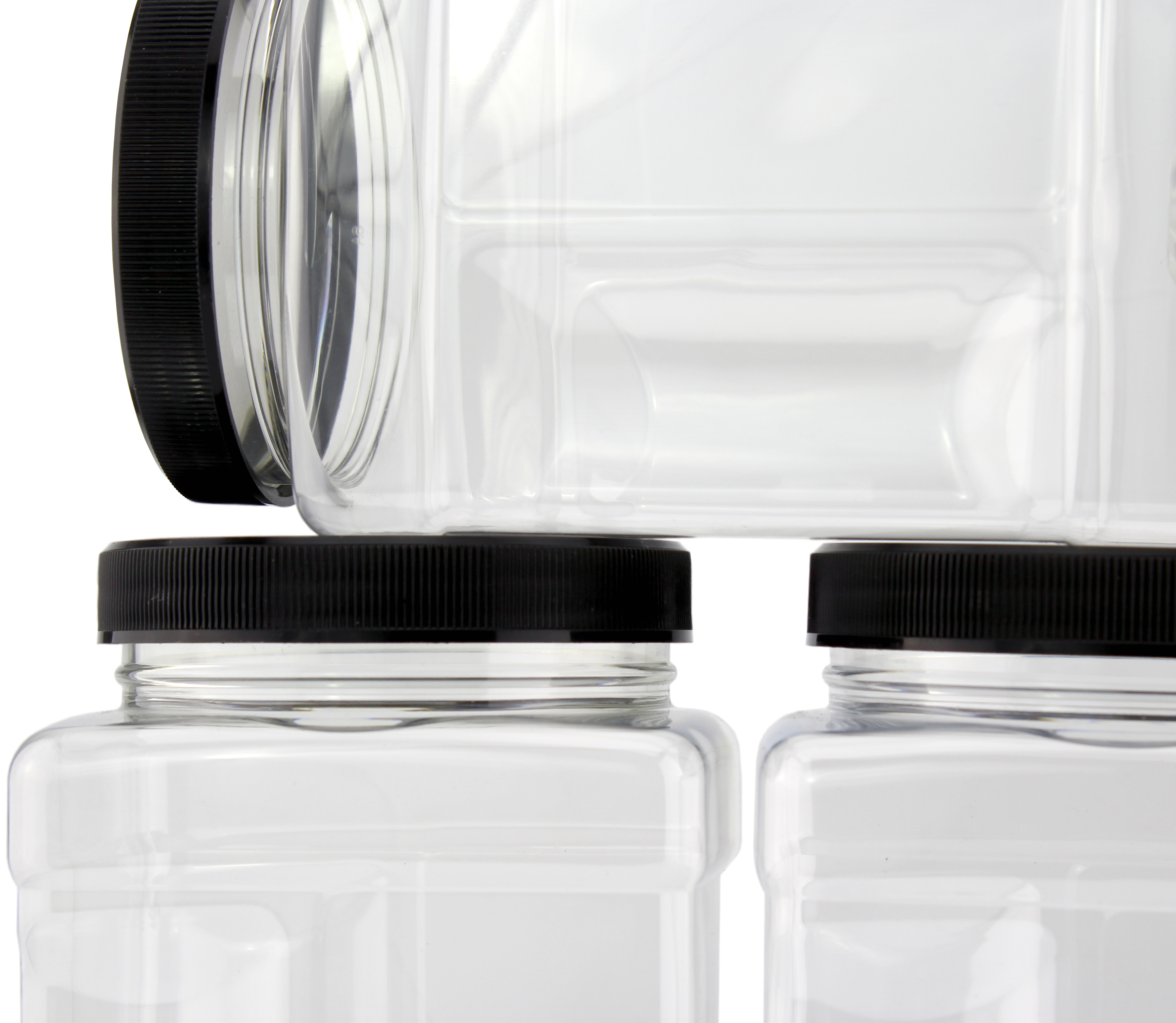 B078SF8L4D - 32-Ounce Square Plastic Jars (4-Pack) 1
