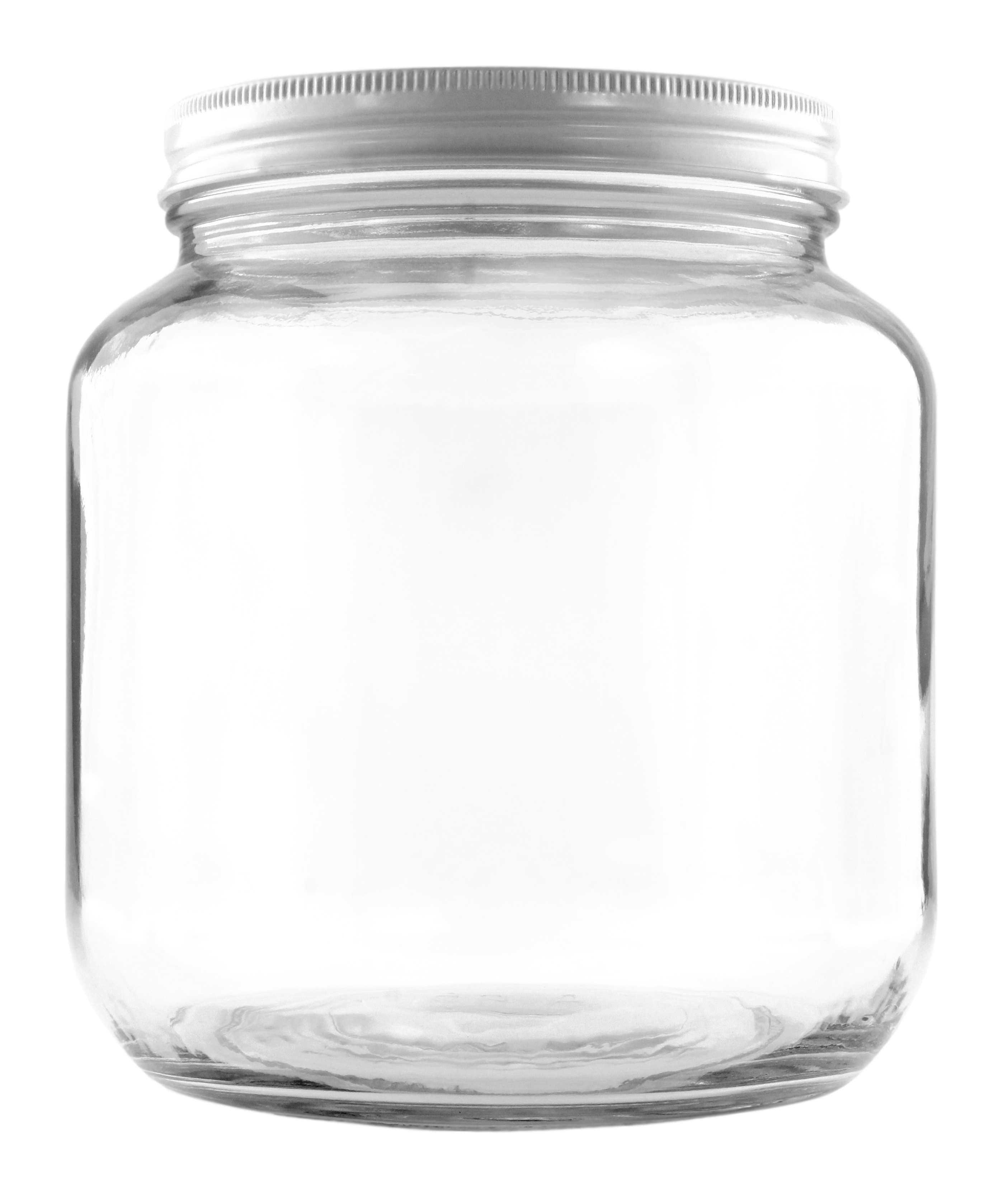B01FMVSXHS - 64oz Clear Wide-mouth Glass Jar, BPA free Food Grade w White Metal Lid (Half Gallon) 2