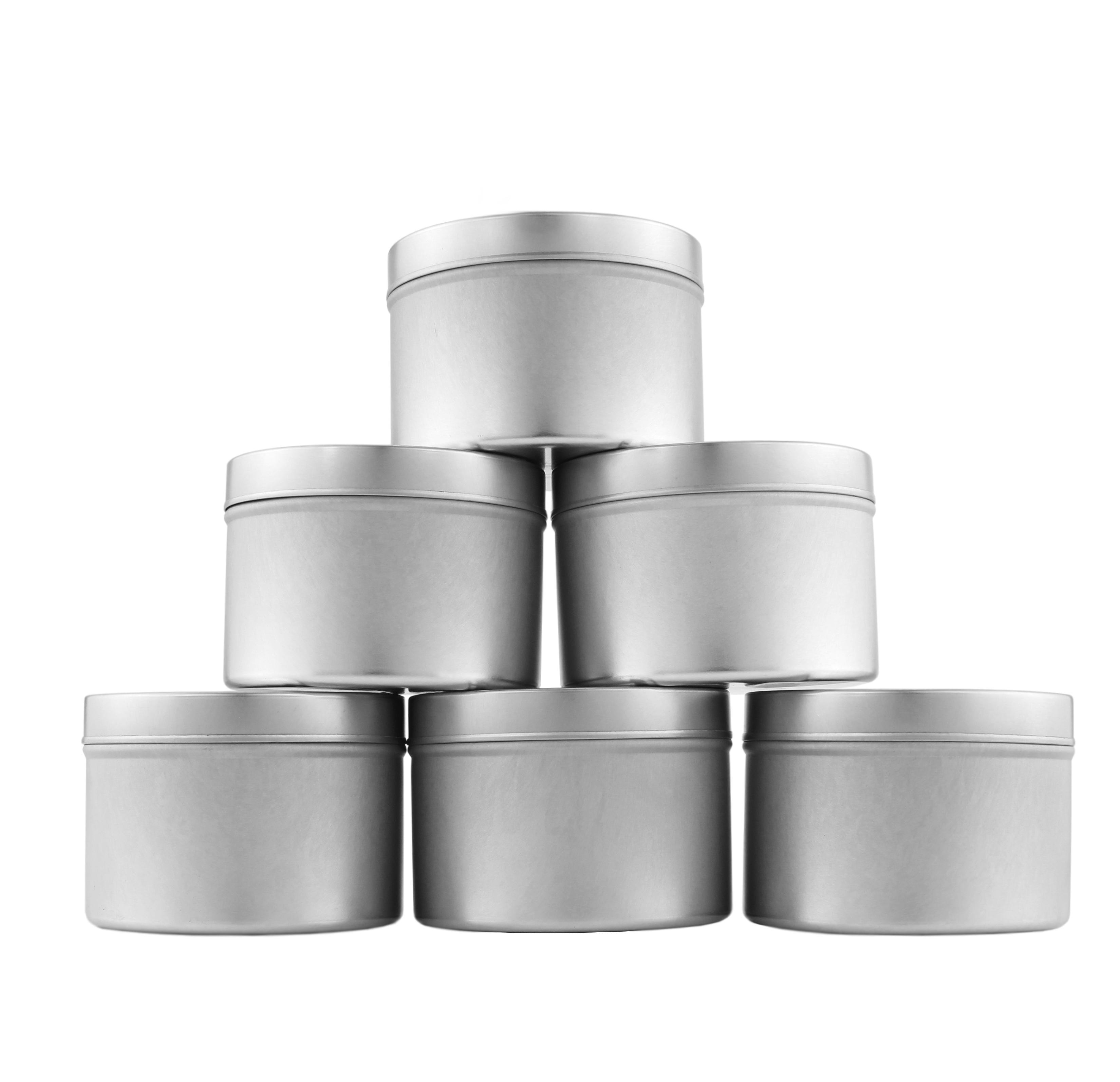 B017ISZ84O - Medium 8oz DIY Candle Tin Jars, Great Survival Candle Tins (6 Pack) 2