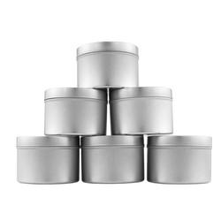 B017ISZ84O - Medium 8oz DIY Candle Tin Jars, Great Survival Candle Tins (6 Pack) 2