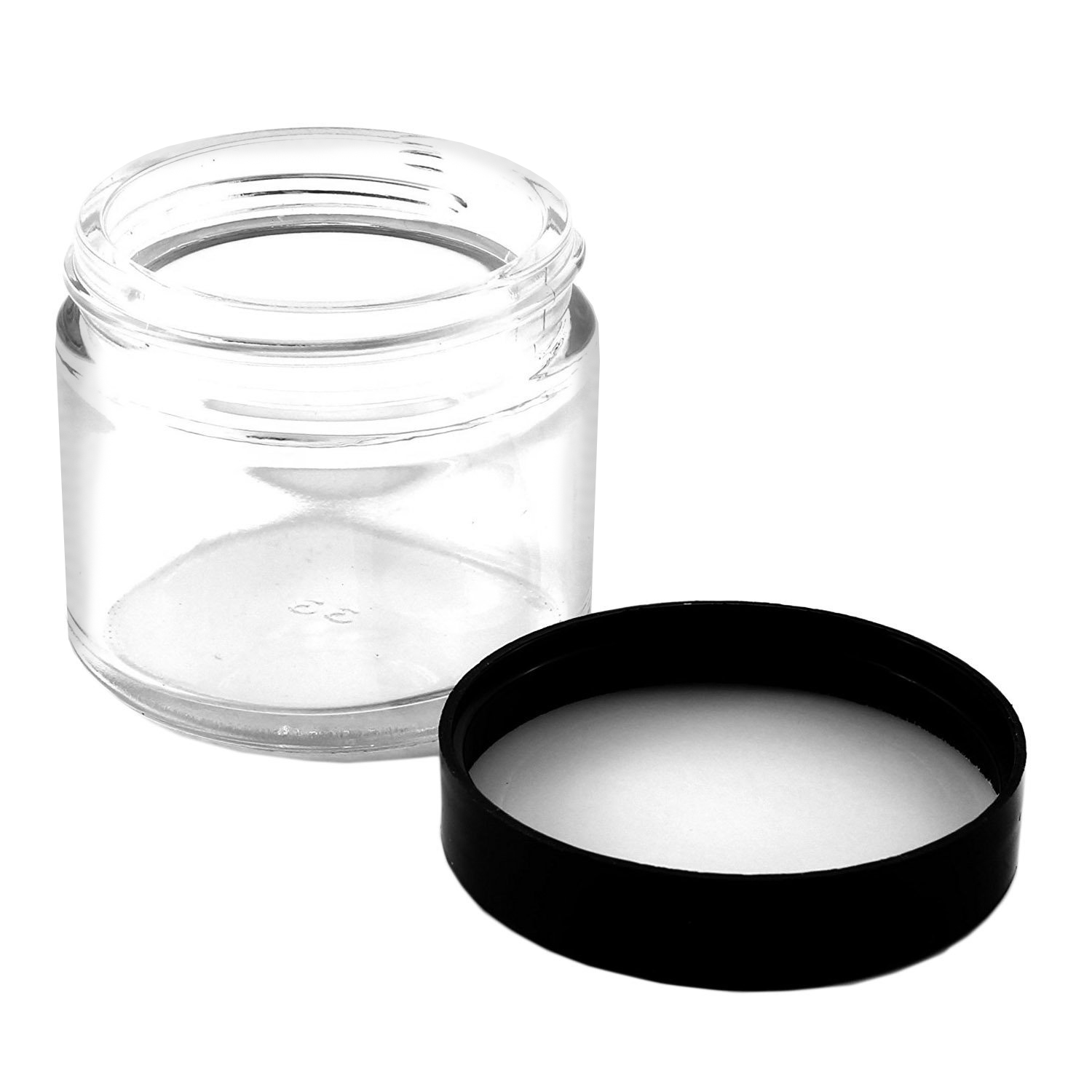 B018SFOZYA - 2oz jars black lids (12pk) - Detail