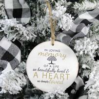 In Memory Wooden Ornament - Lifestyle.jp