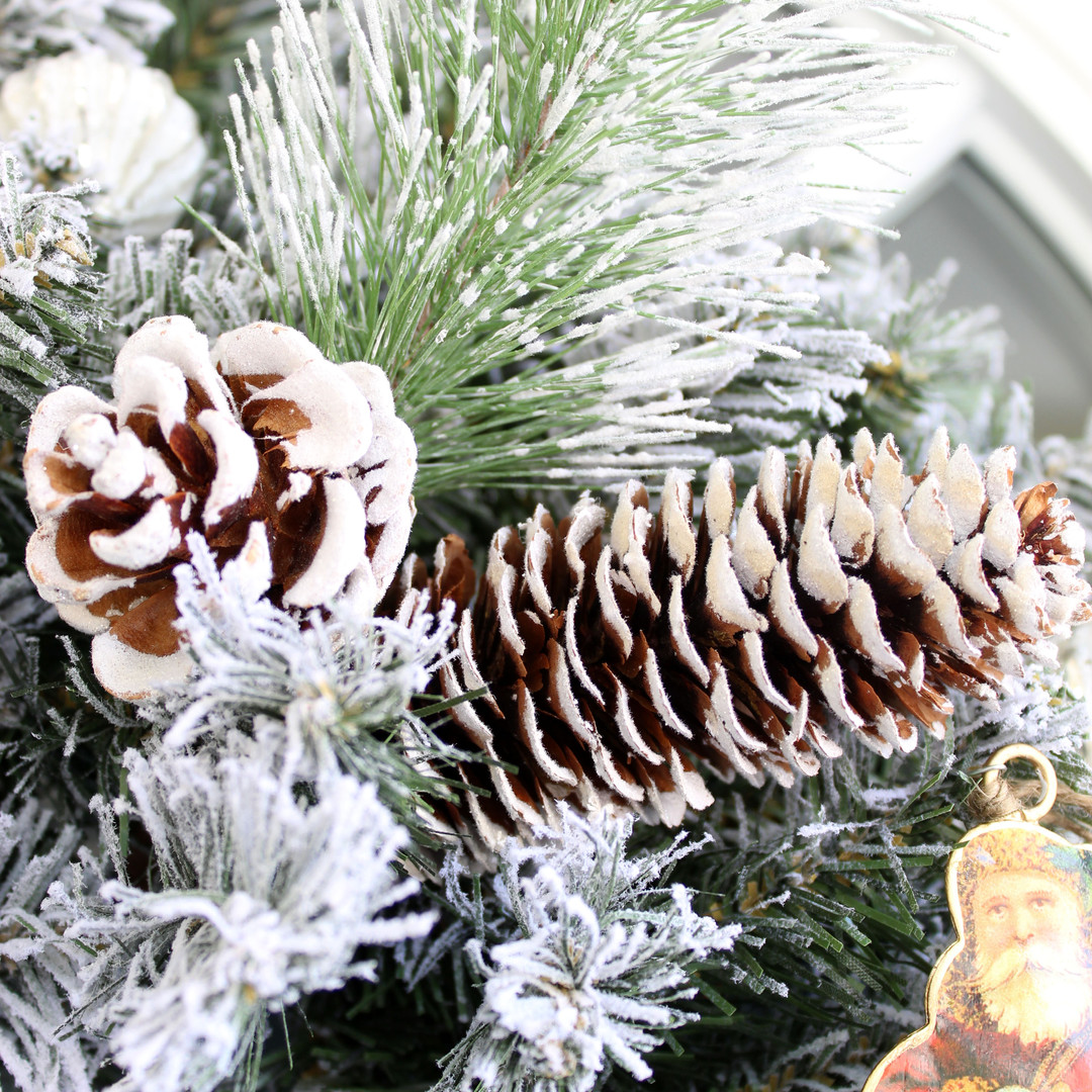 Frosted Pine Picks with Cones