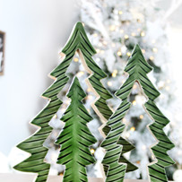 Nesting Christmas Trees - Enamelcoated -