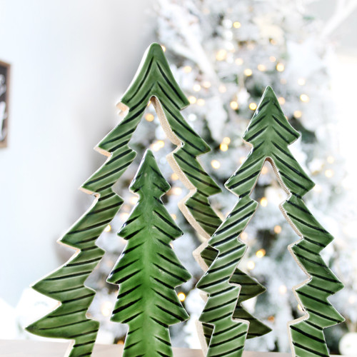 Nesting Christmas Trees - Enamelcoated -