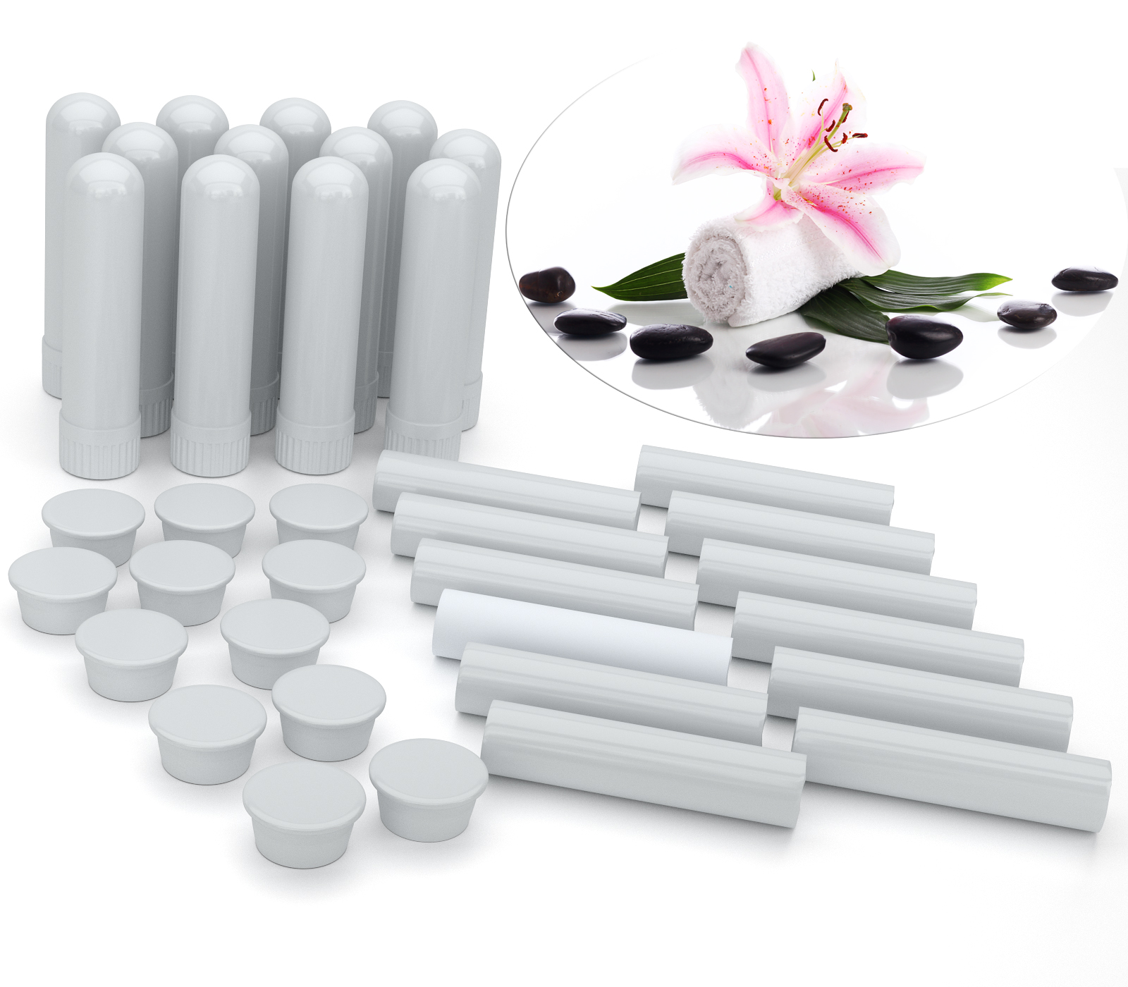 B011A1HRK8 - Essential Oil Aromatherapy Blank Nasal Inhaler Tubes (24 Complete Sticks) 3