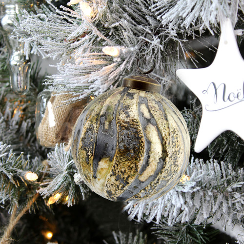 Distressed Metal Glass Ornaments