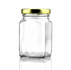 B01DMAO348 - 12 Pack of 6oz Square Victorian Jars, Bulk Value Pack of Square Glass Jars with Screw-O