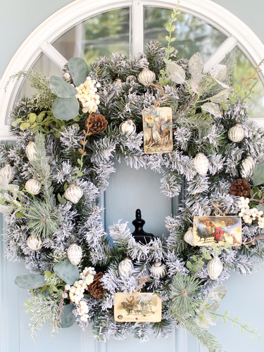 Vintage Ornaments on Wreath.jpg