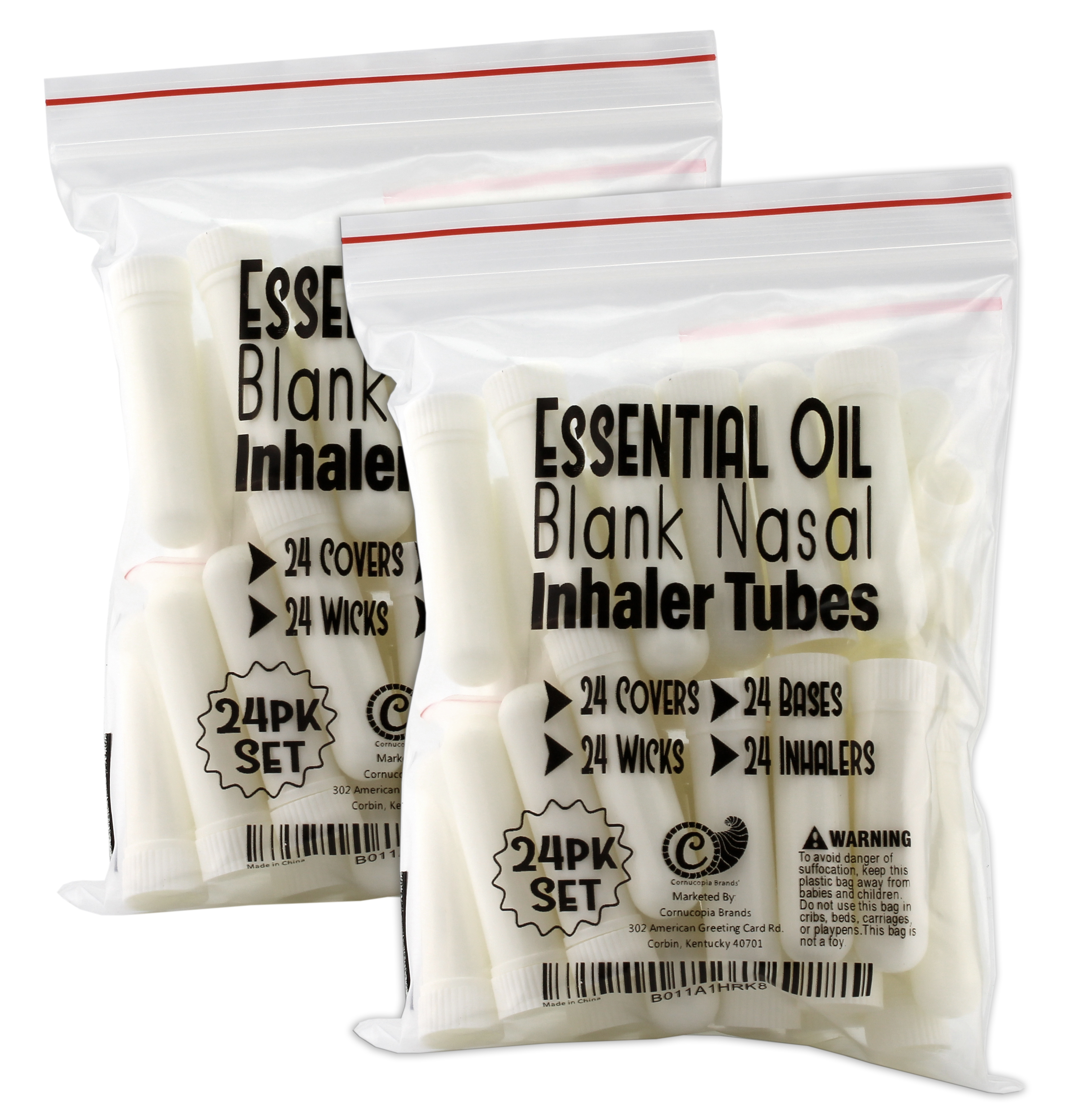 B011A1HRK8 - Essential Oil Aromatherapy Blank Nasal Inhaler Tubes (24 Complete Sticks) 7