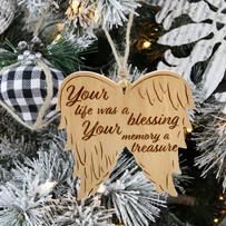 Angel Wings Memorial Ornament - Lifestyl