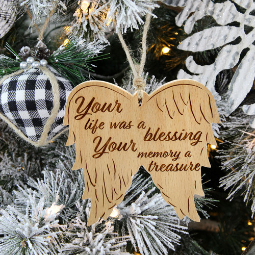 Angel Wings Memorial Ornament - Lifestyl