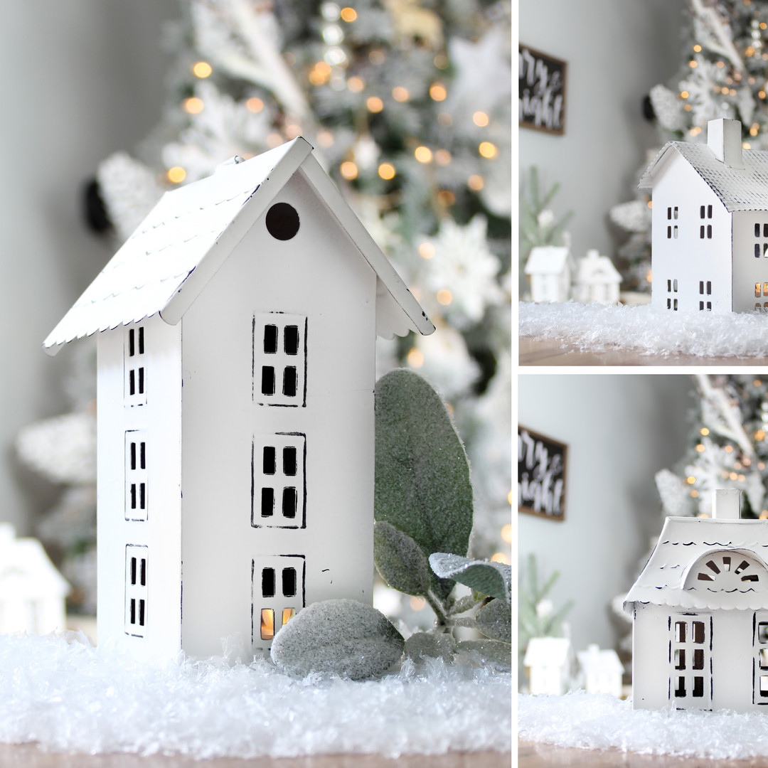Farmhouse Decor Tin Houses