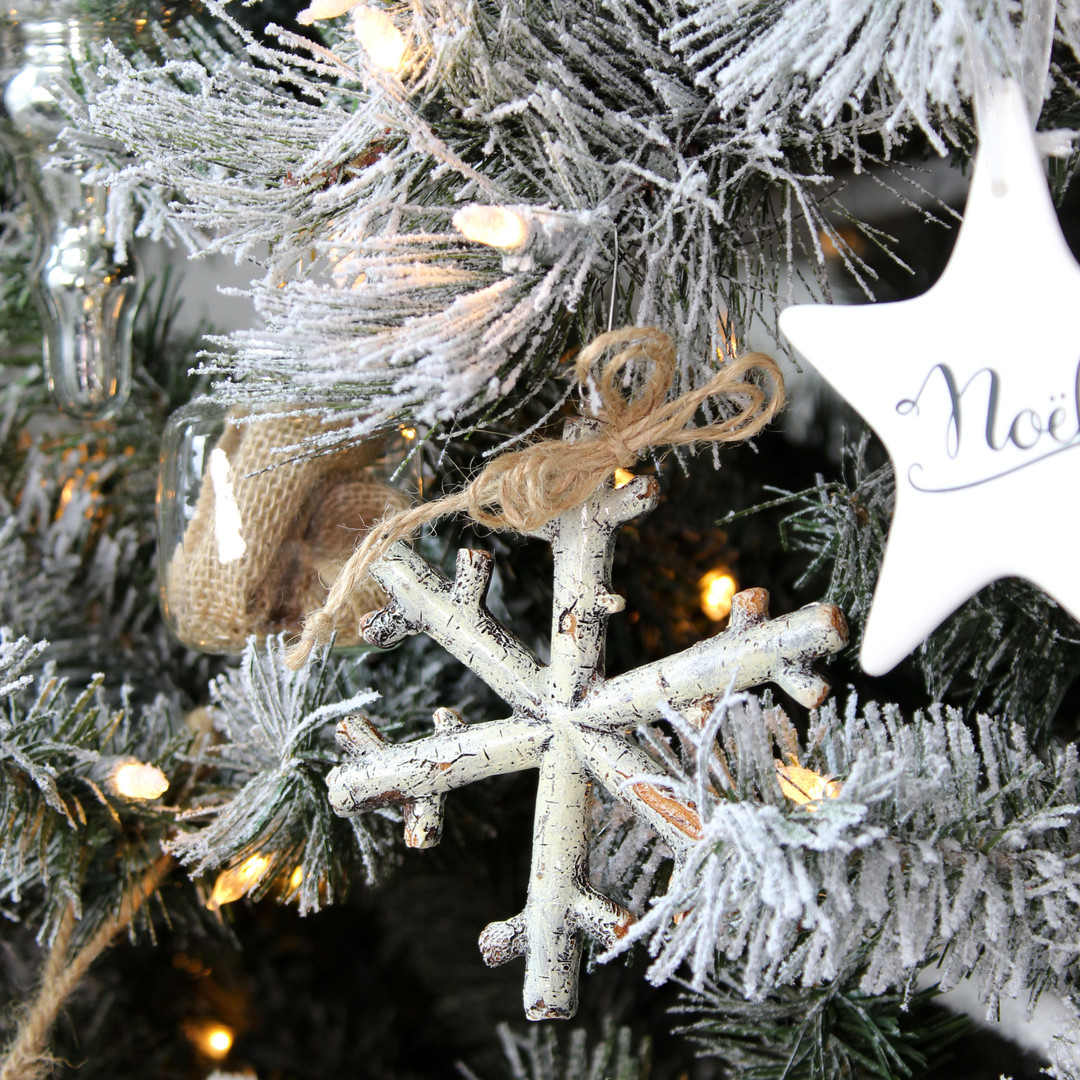 Birch Snowflake Christmas Ornament