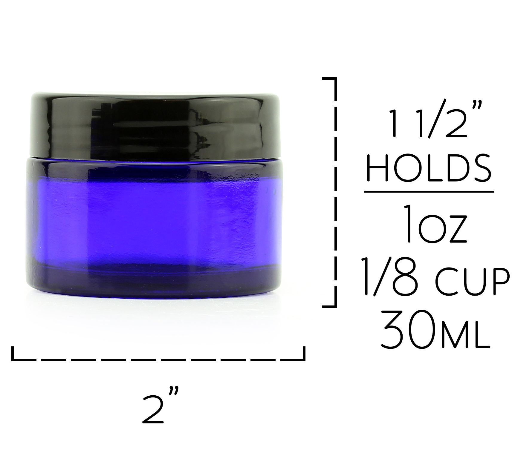 B018SFM042 - 1 oz Cobalt Jars Measuremen