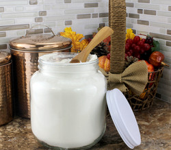 B01FMVSXHS - 64oz Clear Wide-mouth Glass Jar, BPA free Food Grade w White Metal Lid (Half Gallon) 5