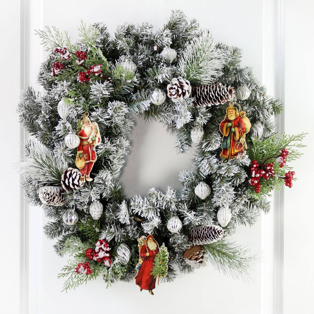 Vintage Santa Ornaments