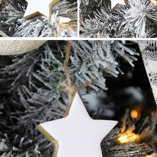 Farmhouse Star Ornaments (12-Pack) - Mai