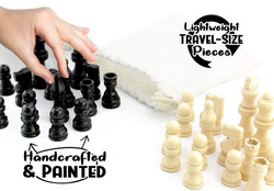Black and White Chess Peices