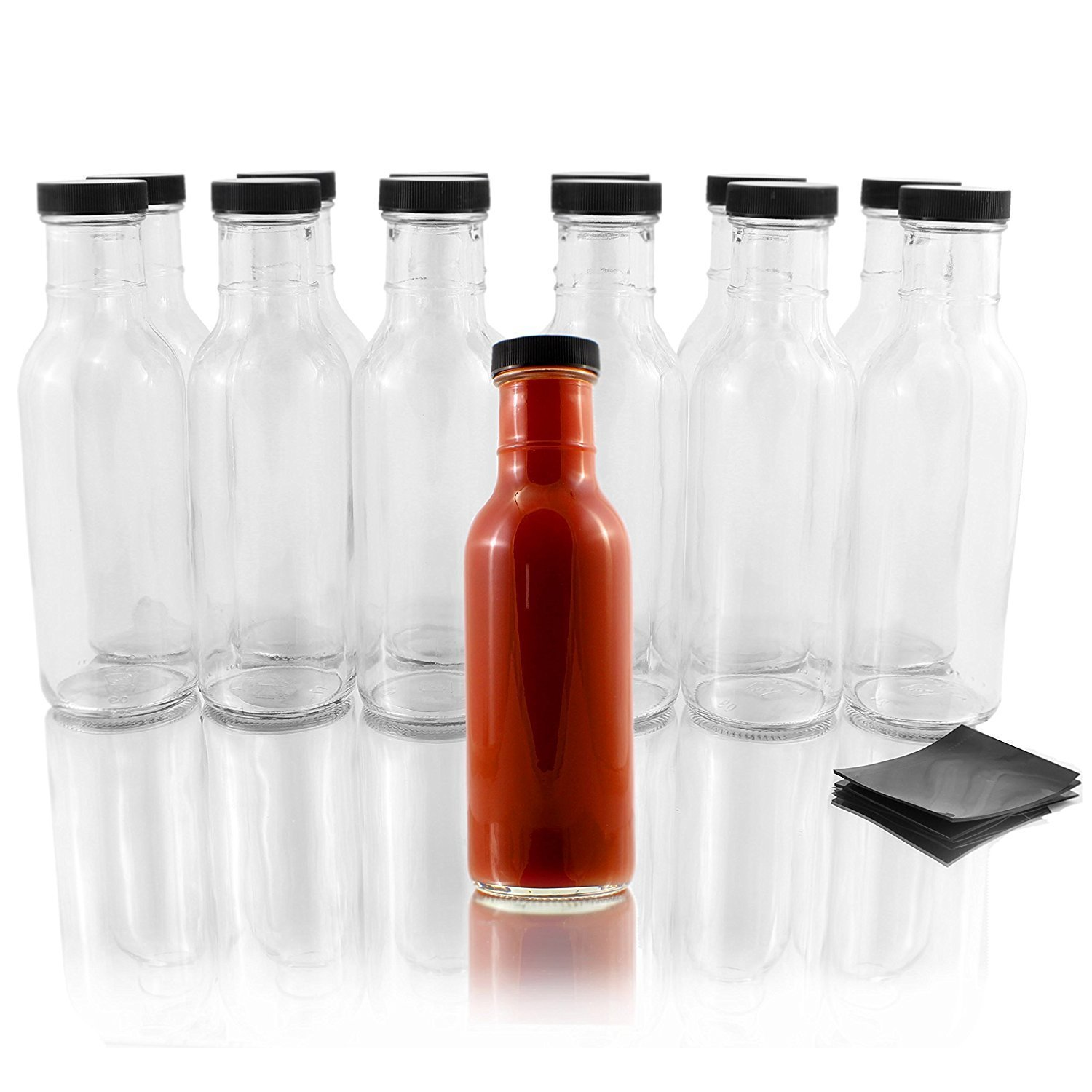 B015NFUIYO - Wide Mouth Hot Sauce Bottles 1