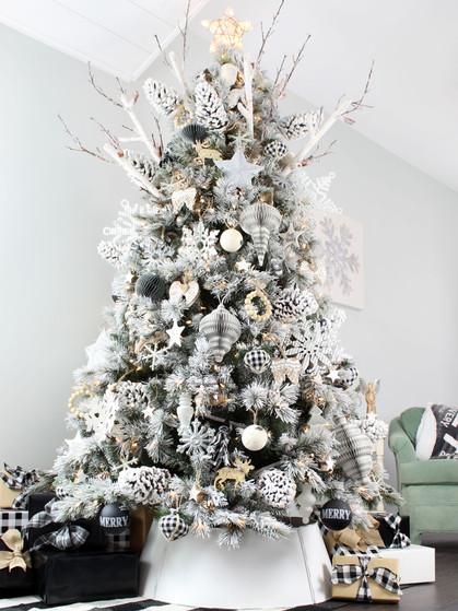 Birch Snowflake Christmas Ornament (6pk)