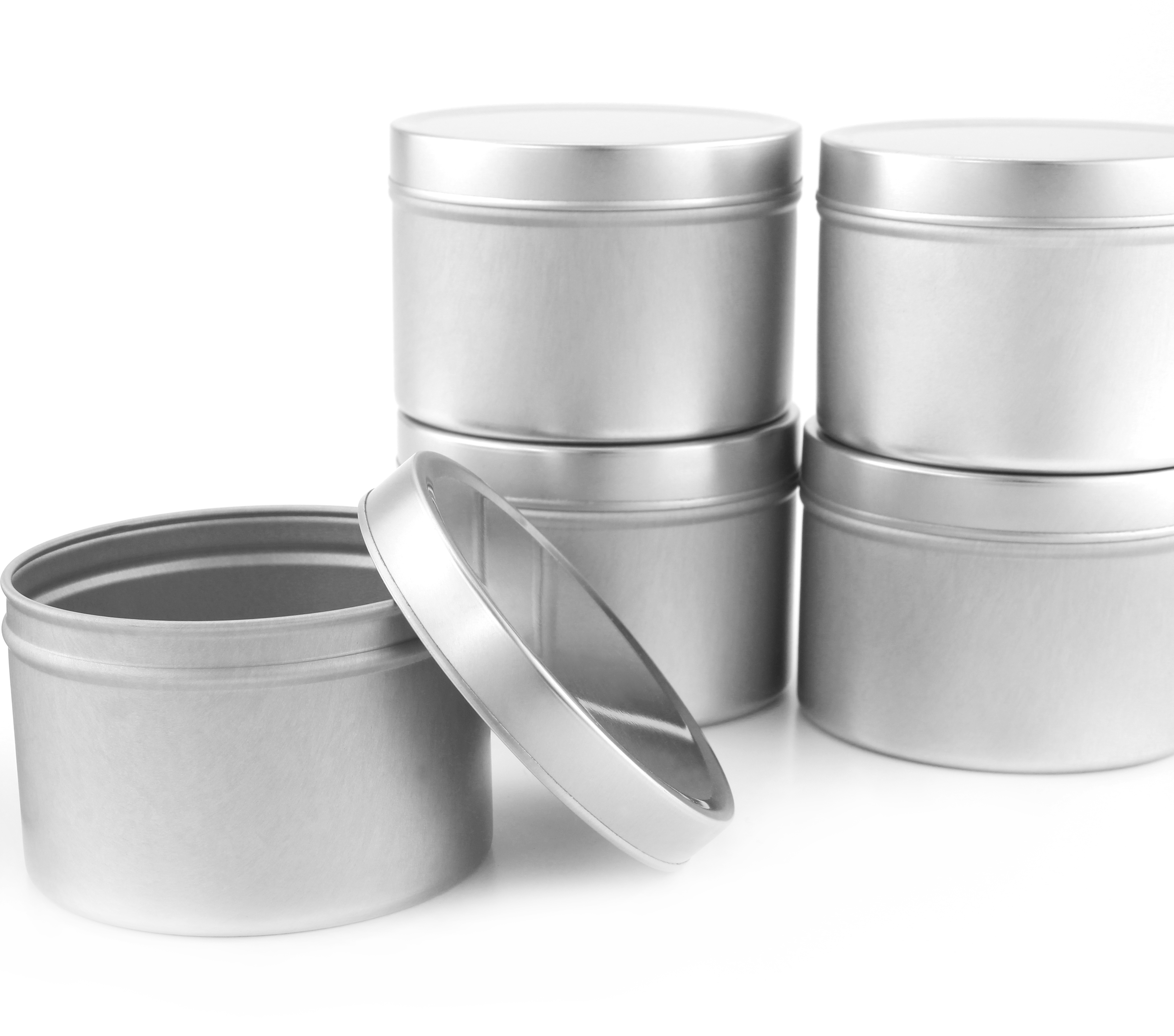B017ISZ84O - Medium 8oz DIY Candle Tin Jars, Great Survival Candle Tins (6 Pack) 5