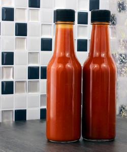 B016LPPR4Q - 5oz Empty Hot Sauce Woozy Bottles (12 Complete Bottles) In use