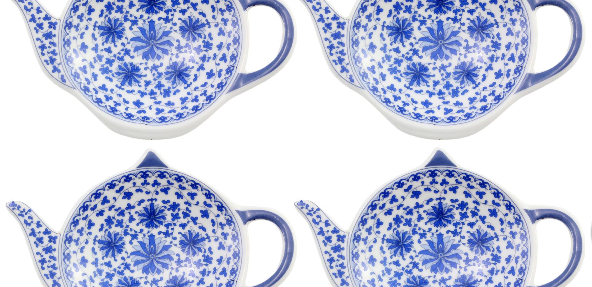 B01LOSCMA2 - 4-Pack of Blue & White Teap