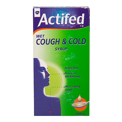 Actifed wet cough and cold syrup