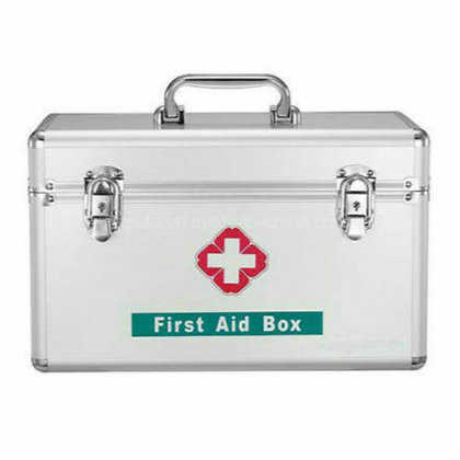 First aid kit aluminium large (filled)