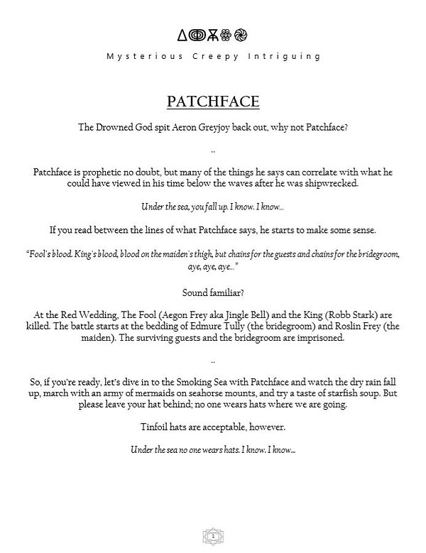 Patchface Theory