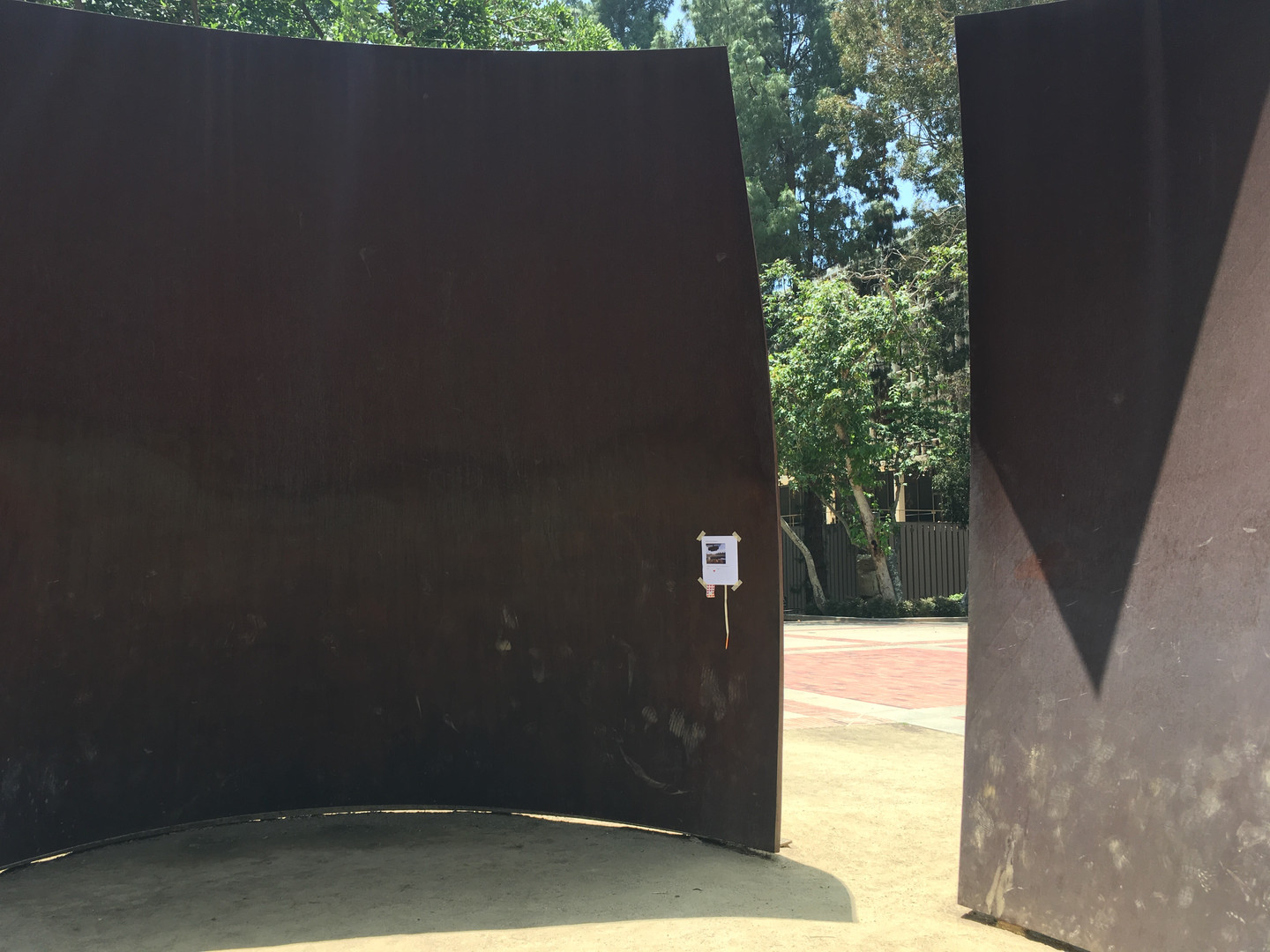 On a Richard Serra sculpture