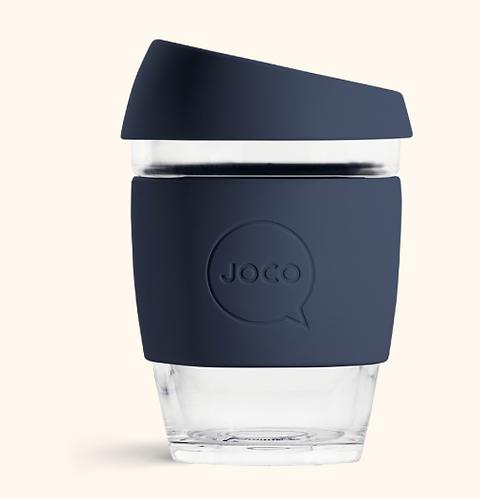 JOCO Reusable Glass Coffee Cup 12oz (Mood Indigo)