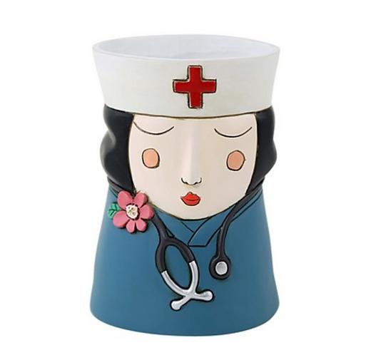 Brunette Nurse Planter by Allen Designs