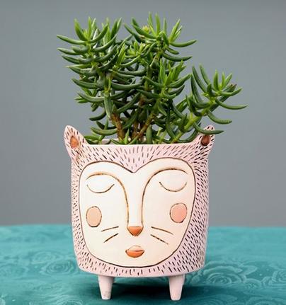 Purrs Cat Planter by Allen Designs
